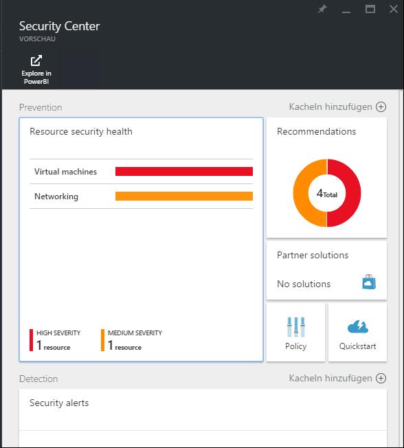 Übersich Azure Security Center - Azure Security Center
