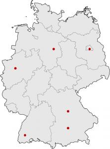 Die Standorte von aConTech Deutschland im Überblick.
