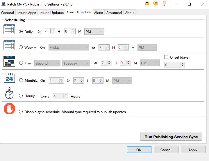 Patch my PC - Softwarepaketierung - Sync Schedule