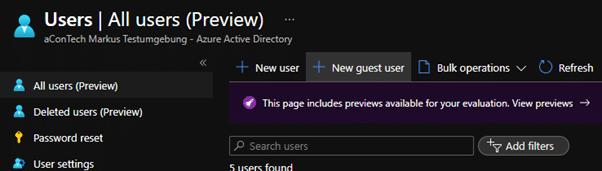Azure AD Guest Account Management
