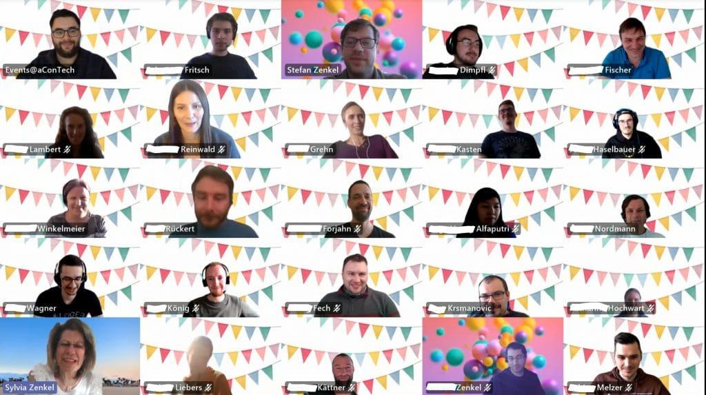virtuelle Geburtstagsfeier