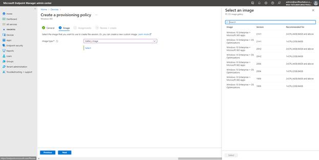 Windows 365 - Provisionierungsrichtlinien & User Settings
